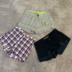 Zara, West seal, and Charlotte russe shorts bundle